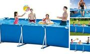Above Ground Swimming Pool - 14.75 Ft X7.2 Inch Outdoor Rectangular Metal