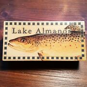 Lake Almanor Fishing Lure Boxes Great Lake House Cabin Decorations