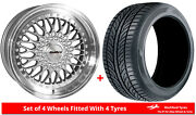 Alloy Wheels And Tyres 19 Calibre Vintage For Mercedes E-class [w124] 83-95