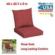 Outdoor Deep Seat Cushion Chair Patio Cushions Pad Uv Fade Resistant 45 X 22.7and039and039