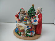 Vintage Christmas Santa And Mrs Claus Musical Figure Santa Is Writing A Gift List