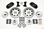 Front Disc Brake Kit 74- 78 12.19in Drilled Rotor