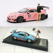 League Model 1/64 Toyota 86 Gulf Pink Two Cars