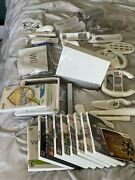 Nintendo Wii Console Huge Bundle 11 Games Two Controllers One Numb Chuck