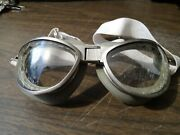 Reproduction Ww2 Us Air Corp Type B-7 Flight Goggles Double Cushion Clear Lenses