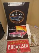 4 Signs,1960's Pontiac Gto,you Lose,budweiser Beer,olson Brothers Gun And Tackle