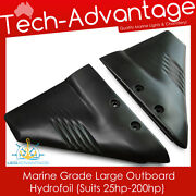 Boat Marine Grade Black Hydrofoil Large Suits 25hp+ Outboard Motors