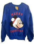 Vintage Mickey Unlimited Mickey Mouse / Disney Christmas Sweatshirt L New Tags