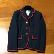 Jacket 38 Wool Cotton Navy From Japan Fedex No.9876
