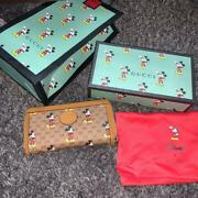 X Disney Mickey Mouse Collaboration Limited Edition 2020 Long Wallet
