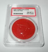 1959 Armour Hot Dog Baseball Coin Pin Nellie Fox Chicago White Sox Psa 8 Nm-mt