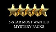 5 Star Most Wanted Mystery Packs - 15 Autos/relics Baseball Football Etc