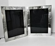 Antique 1920's Double Sterling Silver Hinged Picture Frame -warwick And Co.- 362 G