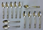 Antique Old Company Plate Silverplate Flatware Scroll Rose 12pc Teaspoons Mono M