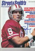 Steve Young San Francisco 49ers Signed Autograph Auto 1993 Street And Smith's