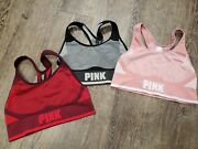 Victoria's Secret Pink Sports Bras Athletic Work Out Cool Comfy Small