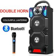 Wireless Portable Bluetooth Speakers High-power Outdoor Dual Audio Subwoofer New