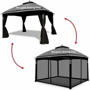 Hofzelt Gazebo Replacement Mosquito Netting Screen Walls For 10and039 X 10and039 Gazebo Ca
