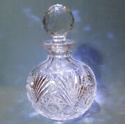 Cologne Or Dresser Bottle American Brilliant Period Cut Glass C 1900and039s