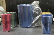 Vintage Light Weight Aluminum 5 Piece Set - Pitcher With 4 Tumblers New