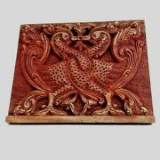 Ceylon Wood Carved Decor Vintage Tribal Wall Handling Sculpture Gifts Antique