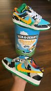 Fandf Special Box Nike Sb Dunk Low Chunky Dunky Size 8 Ben And Jerryand039s Cu3244-100
