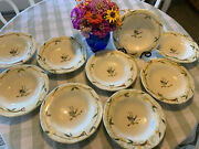 Etrusca By Vietri Bird On A Branch [set Of 9] 9 Individual Pasta Bowls - Rare