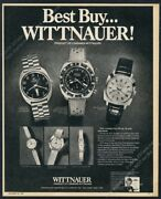1970 Wittnauer Scuba Chron Diver Diving Watch Day And Date H Leader Photo Ad
