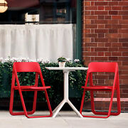 Siesta Dream Folding Bistro Set With Table And 2 Red Chairs Isp0791s-red-whi