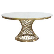 Diamond Sofa Solstice Round Dining Table With Genuine Marble Top Solsticedtgd