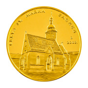 Zagreb St. Mark,s Church, Croatian Gold Medal, Certificate, Box, Authentic Gold