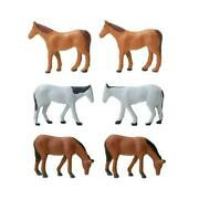 N Scale 1/150 Tomytec The Animal 103 Assorted Horses Figures Model Animals Japan