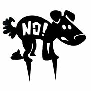 No Dog Poop Yard Signs 14x11in Funny No Poop Dogs Sign Metal With Stake