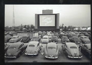 Real Photo Chicago Illinois Drive In Movie Theatre Old Cars Postcard Copy