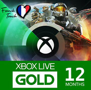 Abonnement Xbox Live Gold 12 Mois - Code Digital Pour Microsoft Xbox Fr And Europe