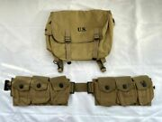 Ww2 Us Army Soldier M1936 M36 Field Haversack And Infantry Bar Equipment Belt