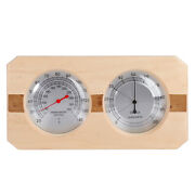 Wood Sauna Hygrothermograph Double Dial Thermometer Hygrometer Sauna Room Access