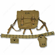 Wwii Ww2 Us Army Soldier Military M36 Haversack Pistol Belt Bag Canteen Hi-q1943