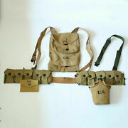 Wwii Us Soldier Field First Aid Pouch 1928 Haversack Canteen Bar Gear Hi-q 1943