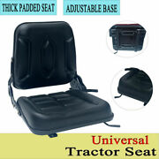 Universal Tractor Seat With Adjustable Backrest Lawn Mower Forklift Seat Replace