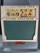 Vintage 1972 Fisher Price Portable School Days Play Desk. Desk And Stencils Only