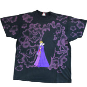 Disney Snow White The Evil Queen Witch Vintage Rare T-shirt 90's Used
