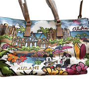 Dooney And Bourke Disney Aulani Hawaii Tote Bag Mickey Mouse Minnie Mouse