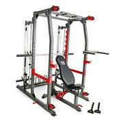 Smith Machine Weight Bench Home Gym Total Body Workout Training System Sm-4903