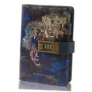 Diary With Lock A6 Small Locking Diary Locking Journal For Adults Pu Dragon