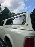 Used Leer Truck Cap Pearl White 6.5and039 Bed With 3 Sliding Windows