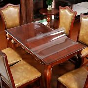 Table Protector Kitchen Dining Room Wood Furniture Cover Clear Plastic Tableclot