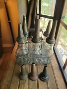 6 Vintage The Master Mfg Co Motor Oil Bottle And Metal Spout Litchfield And Crate