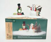Dept 56 North Pole Woods Tailored For You Christmas Village 2 Figurines W/ Box