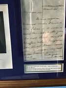 Martin Van Buren - Autographed Picture And Letter Signed